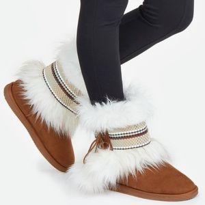 JustFab Fort Good Hope Booties, Size 10-fit like 9